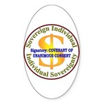 IS-CUC Oval Sticker (50 pk)