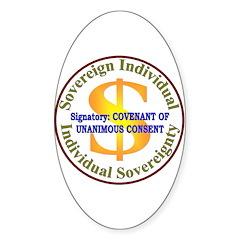 IS-CUC Oval Sticker (50 pk)