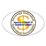 IS-CUC Oval Sticker (10 pk)