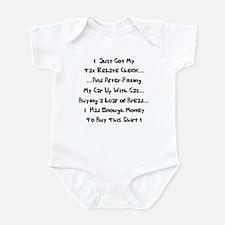 Tax Rebate Money Infant Bodysuit