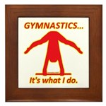 Gymnastics Framed Tile - Do