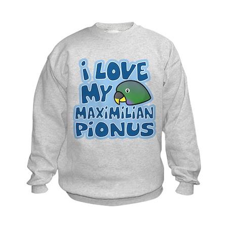 Kawaii Maximilian Pionus Kids Sweatshirt