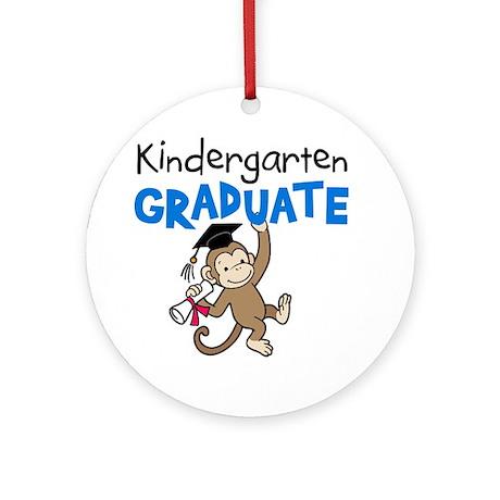 Kindergarten Graduate - Monkey (Blue) Ornament (Ro