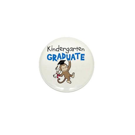 Kindergarten Graduate - Monkey (Blue) Mini Button