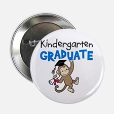 "Kindergarten Graduate - Monkey (Blue) 2.25"" Button"