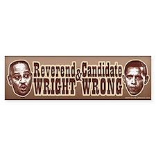 Candidate Wrong Bumper Bumper Sticker