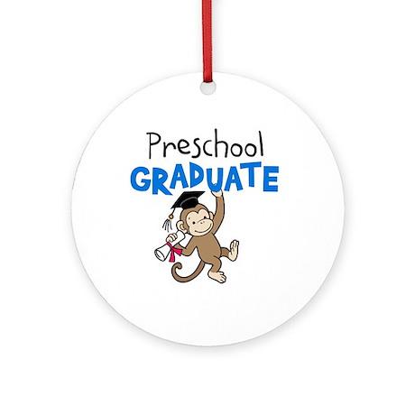 Preschool Graduate - Monkey (Blue) Ornament (Round