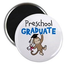 Preschool Graduate - Monkey (Blue) Magnet