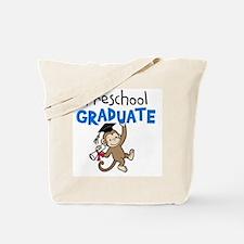 Preschool Graduate - Monkey (Blue) Tote Bag
