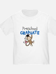 Preschool Graduate - Monkey (Blue) T