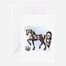 Mustangs (Brown) Greeting Card
