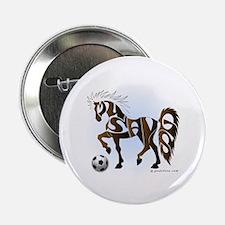 "Mustangs (Brown) 2.25"" Button"