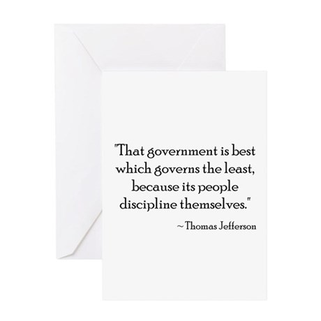 Thomas Jefferson - Discipline Greeting Card
