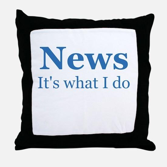 Newscaster Throw Pillow