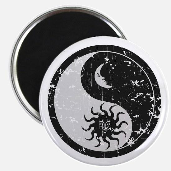 "Sun Moon 2.25"" Magnet (10 pack)"