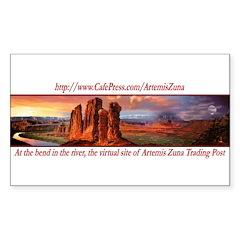 Artemis Zuna Logo 6 Rectangle Sticker 10 pk)