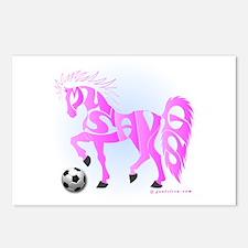 Mustangs (Pink) Postcards (Package of 8)