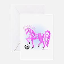 Mustangs (Pink) Greeting Card