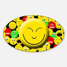 Smiling Mood Smiley Oval Decal