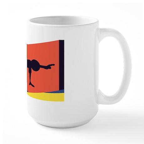 Cat Cow Pointer Large Mug