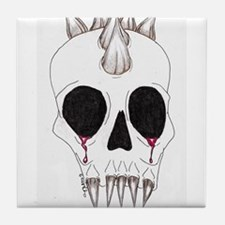 Spike Skull Tile Coaster