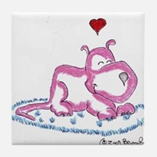Love on a Rug Tile Coaster