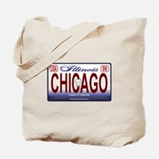 Chicago License Plate Tote Bag