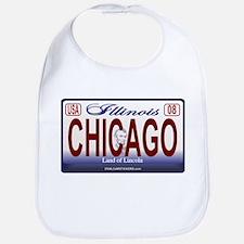 Chicago License Plate Bib