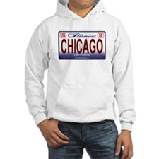 Chicago License Plate Hoodie