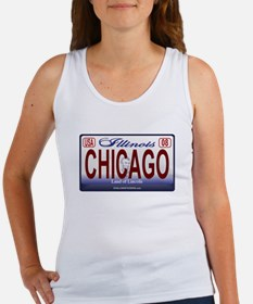 Chicago License Plate Women's Tank Top
