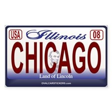 Chicago License Plate Rectangle Decal