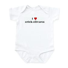 I Love erick olivares Infant Bodysuit