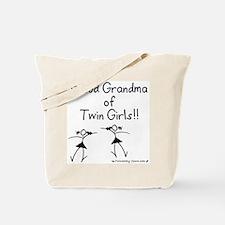 Proud Grandma of Twin Girls STK Tote Bag
