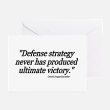 """General Douglas MacArthur Quote"" Greeting Cards ("