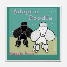 Adopt a Poodle Custom Tile art Coaster