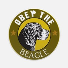 Obey The Beagle Ornament (Round)