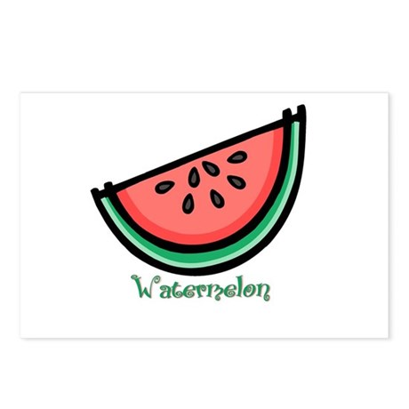 Watermelon Postcards (Package of 8)