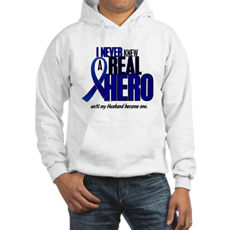 Never Knew A Hero 2 Blue (Husband) Hooded Sweatshi