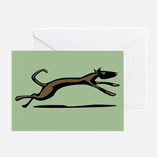 Hound Dog Unleashed Greeting Card