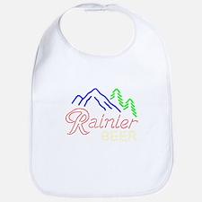 Rainier neon sign 1 Baby Bib