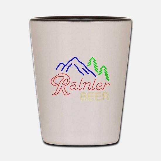 Rainier neon sign 1 Shot Glass