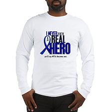 Never Knew A Hero 2 Blue (Wife) Long Sleeve T-Shir