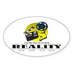Reality TV Oval Sticker