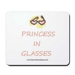Princess In Glasses Mousepad
