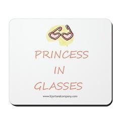 Princess In Glasses Mousepad