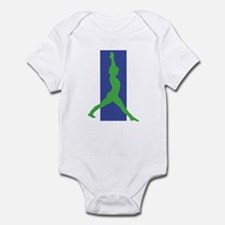 Yoga Warrior Pose Infant Bodysuit