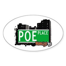 POE PLACE, BROOKLYN, NYC Oval Decal
