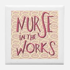 Nurse in the Works Tile Coaster