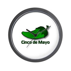 Jalapeno Cinco de Mayo Wall Clock