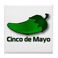 Jalapeno Cinco de Mayo Tile Coaster